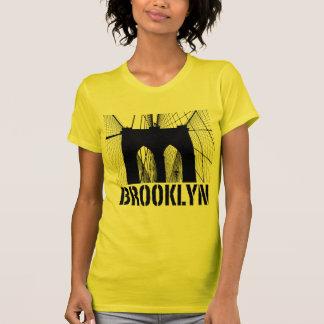 Brooklyn Bridge silhouette black T-shirts