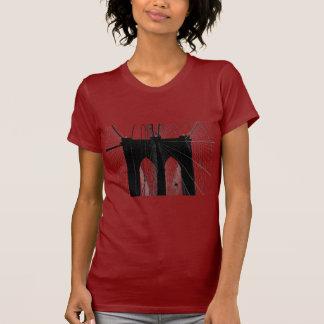 Brooklyn Bridge silhouette black T Shirt
