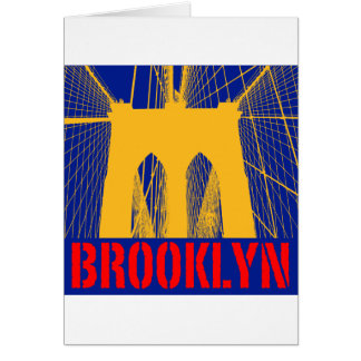 Brooklyn Bridge silhouette Card