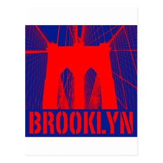 Brooklyn Bridge silhouette Post Cards