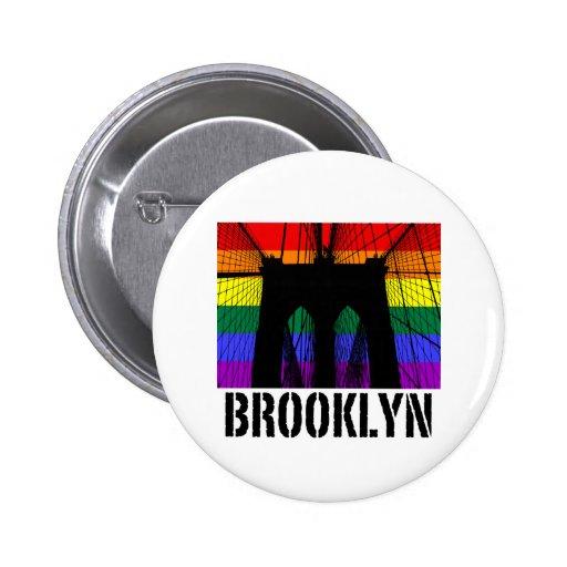 Brooklyn Bridge silhouette pride 2 Buttons