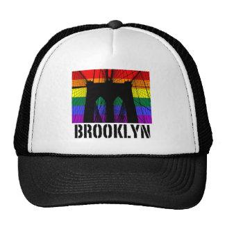 Brooklyn Bridge silhouette pride 2 Mesh Hat