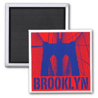 Brooklyn Bridge silhouette pride 2 Square Magnet