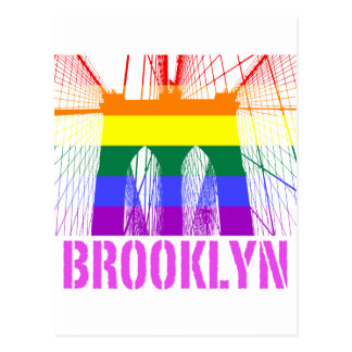 Brooklyn Bridge silhouette pride Postcard