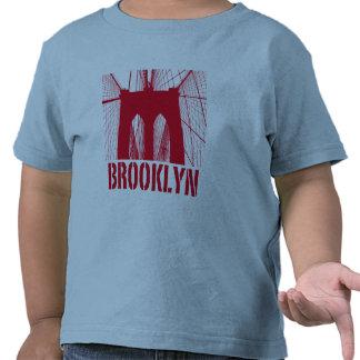Brooklyn Bridge silhouette red Shirt