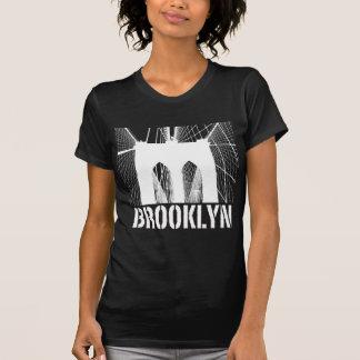 Brooklyn Bridge silhouette white Tshirts