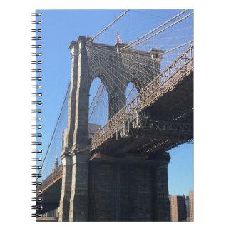 Brooklyn Bridge Sky New York City NYC Photography Notebook
