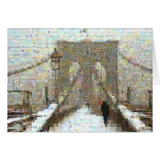 Brooklyn Bridge, Snowy Day Card
