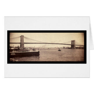 Brooklyn Bridge Span Photo 1896 Card