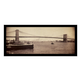 Brooklyn Bridge Span Photo 1896 Poster