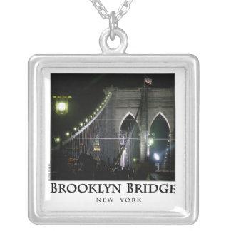 Brooklyn Bridge Square Pendant Necklace
