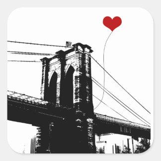 Brooklyn Bridge Square Sticker