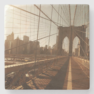 Brooklyn Bridge. Stone Coaster