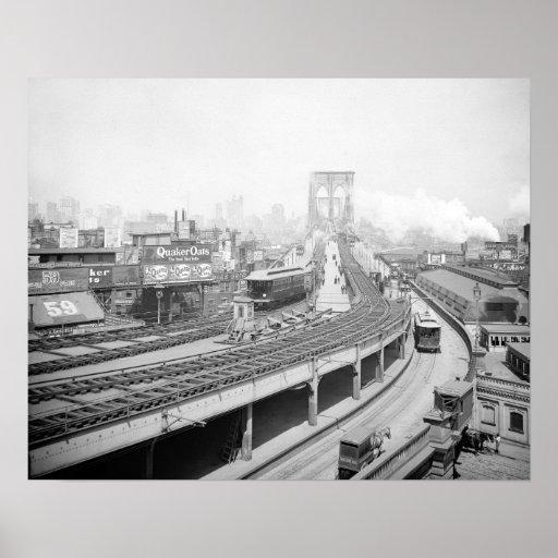 Brooklyn Bridge Terminal, 1903 Print