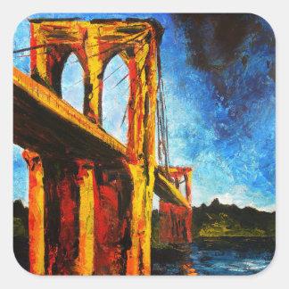 Brooklyn Bridge to Utopia 2009 Square Sticker