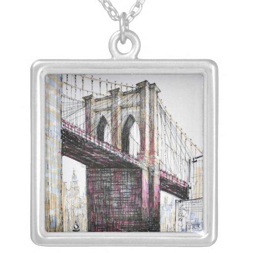 Brooklyn Bridge, USA Necklace