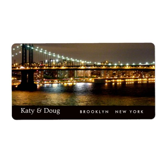 Brooklyn Bridge Wedding Labels