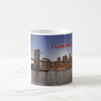 Brooklyn Bridge with New York City Skyline Basic White Mug