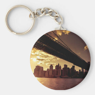 Brooklyn Bridge With New York City Skyscrapers Key Ring