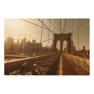 Brooklyn Bridge. Wood Wall Art