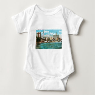 Brooklyn Bridge, Woolworth and Municipal... Baby Bodysuit