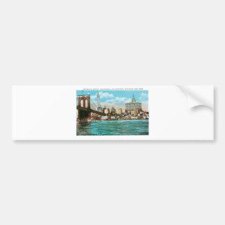 Brooklyn Bridge, Woolworth and Municipal... Bumper Sticker