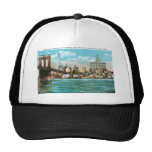 Brooklyn Bridge, Woolworth and Municipal... Cap