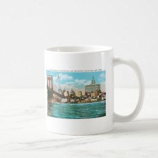 Brooklyn Bridge, Woolworth and Municipal... Coffee Mug