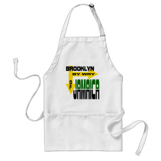 Brooklyn By Way of Jamaica With Arrows Standard Apron
