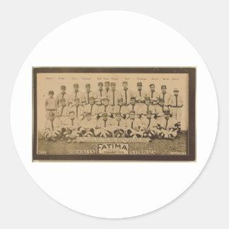 Brooklyn Dodgers 1913 Round Sticker