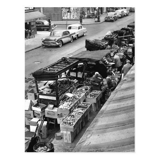 Brooklyn Farmer's Market, 1960 Postcards