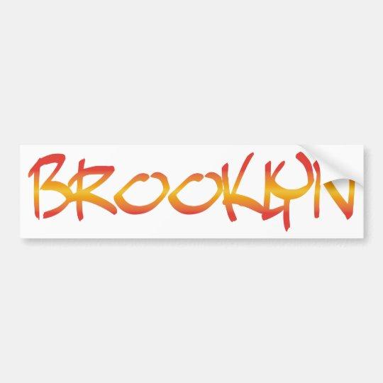Brooklyn Graffiti Bumper Sticker