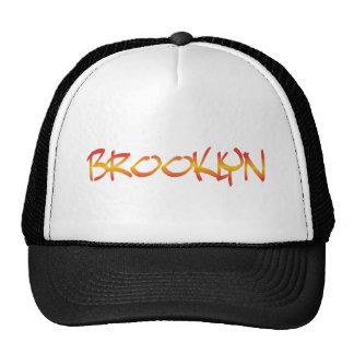 brooklyn graffiti mesh hats