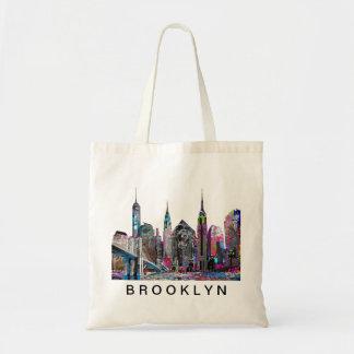 Brooklyn in graffiti tote bag