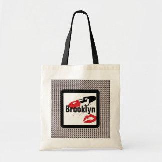 Brooklyn Lipstick and Lips Diamonds Budget Tote Budget Tote Bag