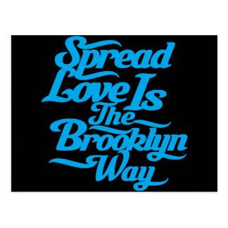 Brooklyn Love Blue Postcard