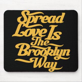 Brooklyn Love Yellow Mouse Mat