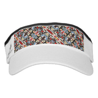 Brooklyn-Modern Brushstrokes Geometric Visor