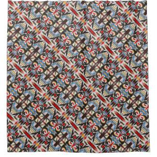 Brooklyn-Modern Brushstrokes Pattern Shower Curtain