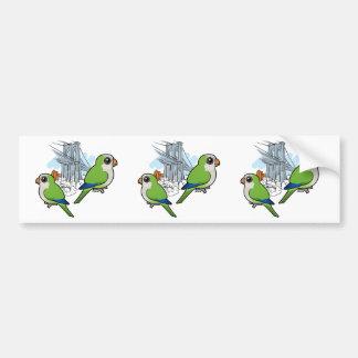 Brooklyn Monk Parakeets Bumper Stickers