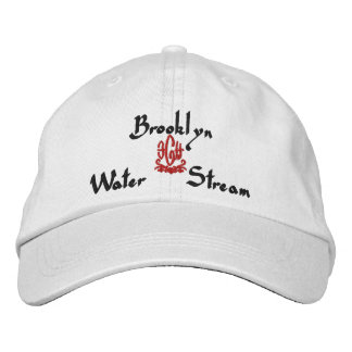 Brooklyn Name With English Meaning White Embroidered Baseball Caps