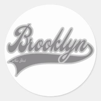 Brooklyn New York Classic Round Sticker
