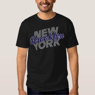 Brooklyn New York - Grey & Navy Blue T-shirts