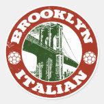 Brooklyn New York Italians Round Sticker