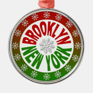 Brooklyn New York red green ornament
