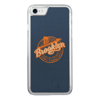 Brooklyn, New York | Retro Vintage Typography Carved iPhone 8/7 Case