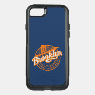 Brooklyn, New York | Retro Vintage Typography OtterBox Commuter iPhone 8/7 Case