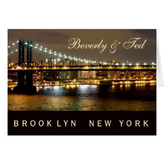Brooklyn New York Wedding Design Greeting Cards