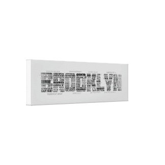 Brooklyn NY Typography Design Gallery Wrapped Canvas