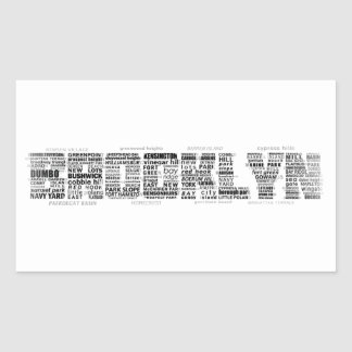 Brooklyn NY Typography Design Rectangular Sticker